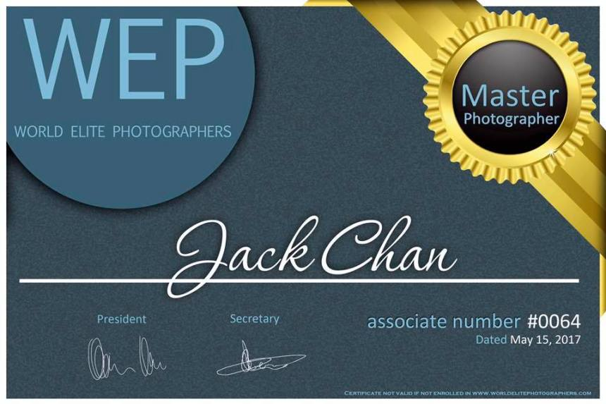 WEP Awards Master Photographer